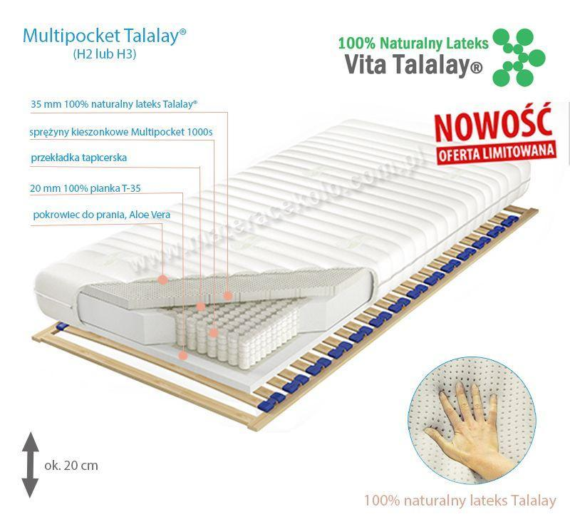 Multipocket Talalay Aloe Vera